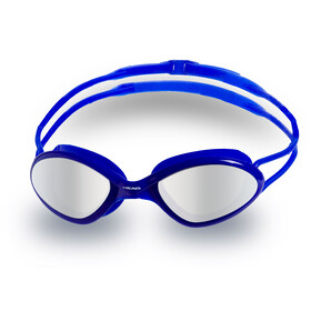 Head Tiger Race Mid Mirrored Goggles, blu-clear